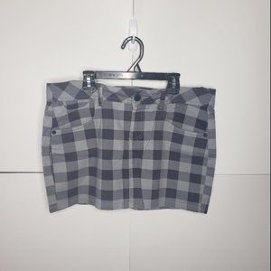 Miley Cyrus Max Azria Gray Plaid Denim Mini Skirt